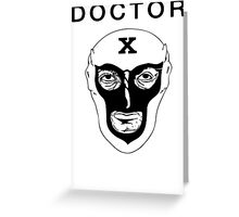 Doctor X Vintage Funny Cool Men's Tshirt Greeting Card