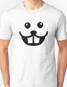 Funny beaver face smile T-Shirt