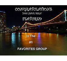 Feature Banner Challenge #1 Favorites Photographic Print
