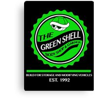 The Green Shell Body Shop & Garage Canvas Print
