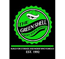 The Green Shell Body Shop & Garage Photographic Print