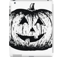 Black and White Pumpkin Illustration iPad Case/Skin
