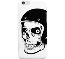 Skull with Helmet - Safety First! iPhone Case/Skin