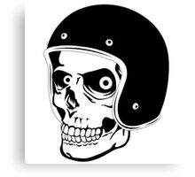 Skull with Helmet - Safety First! Canvas Print
