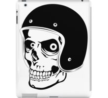 Skull with Helmet - Safety First! iPad Case/Skin