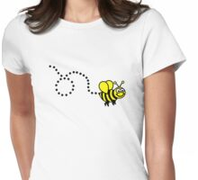 Flying bee Womens Fitted T-Shirt