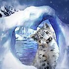 Snow Leopard - Heart Warmer by Carol  Cavalaris