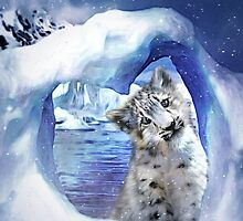 Snow Leopard - Heart Warmer by Carol  Cavalaris