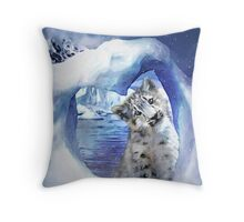 Snow Leopard - Heart Warmer Throw Pillow