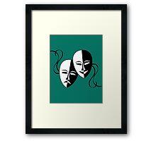 Vintage Theatrical Masks..... Framed Print