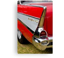 Chrome tail light - Chevrolet BelAir Canvas Print