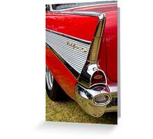 Chrome tail light - Chevrolet BelAir Greeting Card