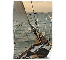 Sailboat Bow on the Open Water Poster