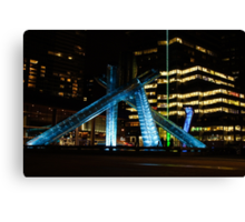 Vancouver - 2010 Olympic Cauldron Lit at Night Canvas Print