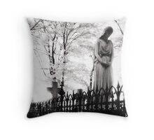 And the angel wept... Berlin Impressions from the 90s Throw Pillow