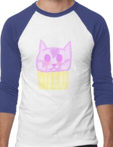 Kawaii Cat Cupcake Men's Baseball ¾ T-Shirt