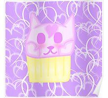 Kawaii Cat Cupcake Poster