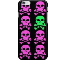 Skulls in Purple and Green iPhone Case/Skin