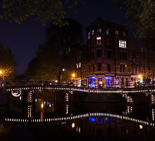 Magical, Sparkling Amsterdam Canals and Bridges at Night by Georgia Mizuleva