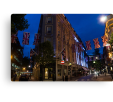 Union Jacks at Seven Dials, Covent Garden, London, UK Canvas Print