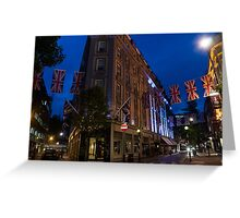 Union Jacks at Seven Dials, Covent Garden, London, UK Greeting Card