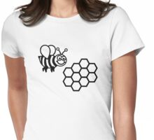 Bee honeycomb Womens Fitted T-Shirt