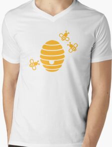 Bees honeycomb Mens V-Neck T-Shirt