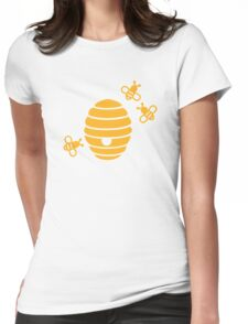 Bees honeycomb Womens Fitted T-Shirt