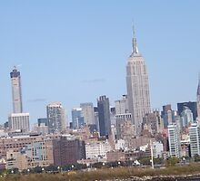 432 Park Avenue Skyscraper, Empire State Building, Chrysler Building, View from Jersey City, New Jersey by lenspiro