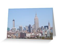 432 Park Avenue Skyscraper, Empire State Building, Chrysler Building, View from Jersey City, New Jersey Greeting Card