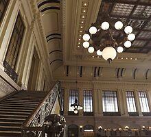Waiting Room, Historic Hoboken Ferry and Train Terminal, Hoboken, New Jersey  by lenspiro