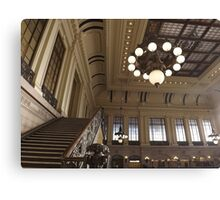 Waiting Room, Historic Hoboken Ferry and Train Terminal, Hoboken, New Jersey  Canvas Print