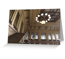 Waiting Room, Historic Hoboken Ferry and Train Terminal, Hoboken, New Jersey  Greeting Card