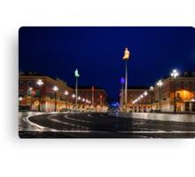 Nice, France - Place Massena Blue Hour  Canvas Print