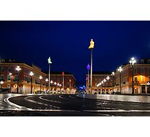 Nice, France - Place Massena Blue Hour  Photographic Print