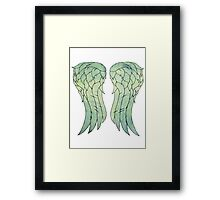 Daryl Dixon's jacket wings Framed Print