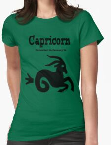 Signs of the Zodiac:  CAPRICORN.... Womens Fitted T-Shirt