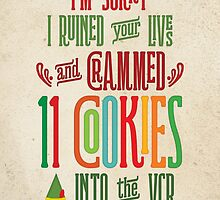 Buddy the Elf - 11 Cookies by noondaydesign