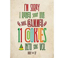 Buddy the Elf - 11 Cookies Photographic Print