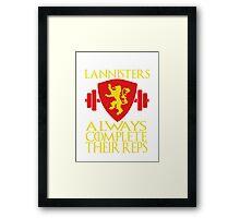 Lannister Workout Framed Print