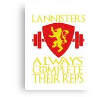 Lannister Workout Canvas Print
