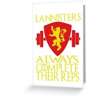 Lannister Workout Greeting Card
