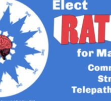 RAT KING FOR MAYOR sticker Sticker