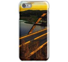 360 Bridge or Pennybacker At Sunset with Golden Highlights iPhone Case/Skin