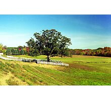 Autumn landscape in Connecticut Photographic Print
