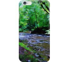 Mountain River Bend Watercolor iPhone Case/Skin
