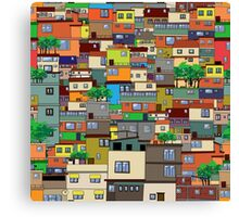 Favela, Brazil Canvas Print