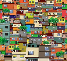 Favela, Brazil by Richard Laschon