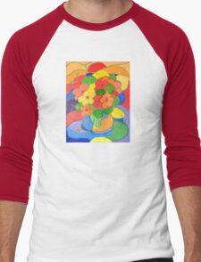Nasturtiums # 5   Men's Baseball ¾ T-Shirt