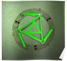 Green Triangles Poster
